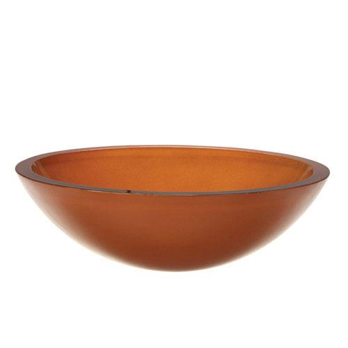 Decolav Translucence Glass Vessel Sink in Burnt Orange 542892