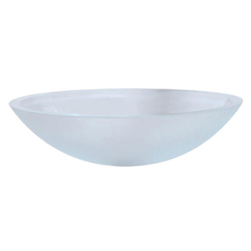 Decolav Translucence Vessel Sink in Frosted Glass Crystal 542903