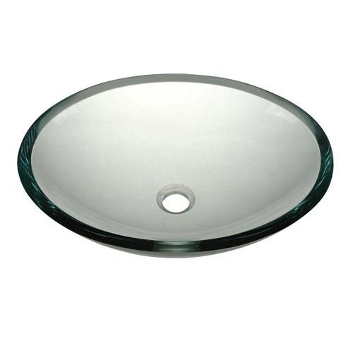 Decolav Translucence Glass Vessel Sink in Transparent Crystal 542906