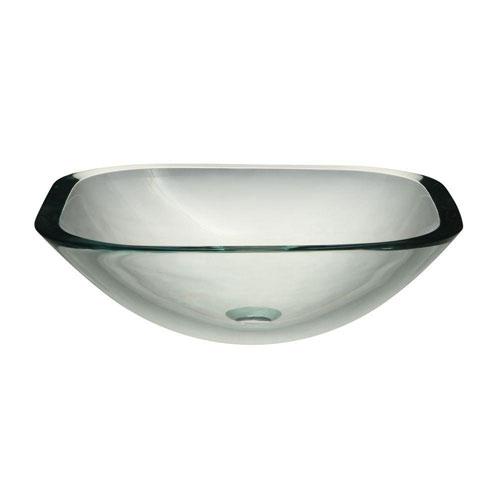 Decolav Translucence Glass Vessel Sink in Transparent Crystal 542911