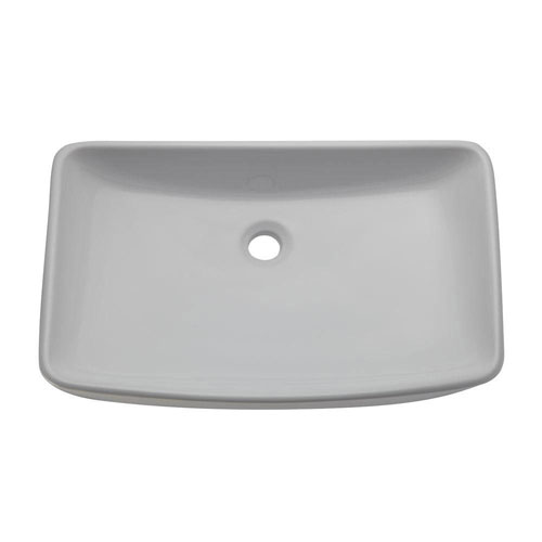 Decolav 1445-CWH Classically Redefined Rectangle Above Counter Lavatory Sink, White 542921
