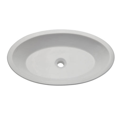 Decolav 1463-CWH Classically Redefined Oval Above Counter Lavatory Sink, White 542934