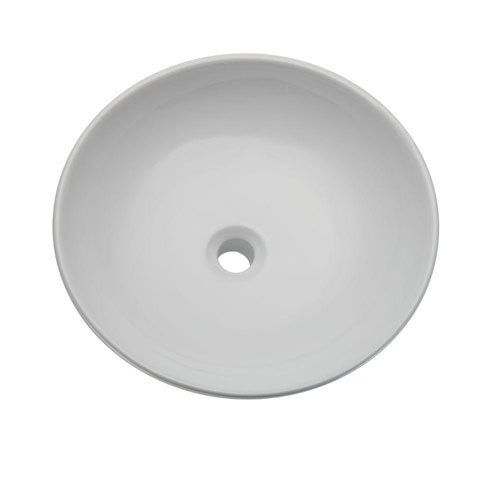 Decolav 1467-CWH Classically Redefined Round Above Counter Lavatory Sink, White 542936