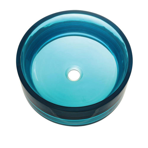 Decolav Incandescence Tall Round Vessel Sink in Lagoon 543047