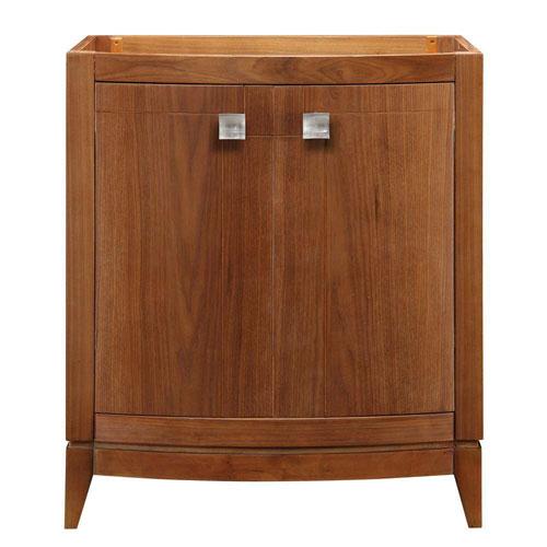 Decolav Gavin 30 inch W x 21.50 inch D x 35.25 inch H Birch Vanity Cabinet Only in Medium Walnut 543102