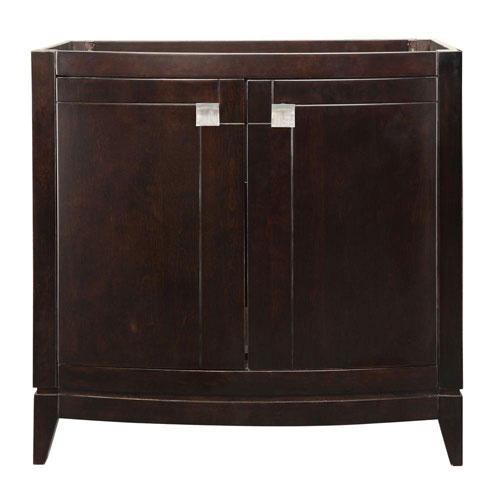 Decolav Gavin 36 inch W x 21.50 inch D x 35.25 inch H Birch Vanity Cabinet Only in Espresso 543103