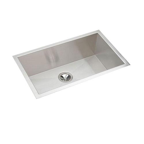 Elkay Avado Undermount Stainless Steel 18-1/2x30 1/2 0-Hole Single Bowl Kitchen Sink Stainless Steel 241389