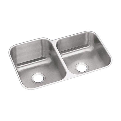 Elkay Dayton Undermount Sink Stainless Steel 20-1/2x31-1/4x8 0-Hole Double Bowl Kitchen Sink in Stainless Steel 242561