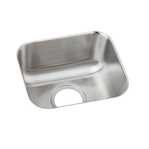 Elkay Dayton Under Mount Stainless Steel 14x12x6.5 0-Hole Single Bowl Bar Sink in Radiant Satin 242577