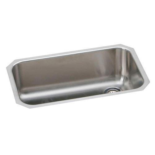 Elkay Gourmet Elumina Undermount Stainless Steel 30-1/2x10x18-1/4 0-Hole Kitchen Sink in Stainless Steel 264033