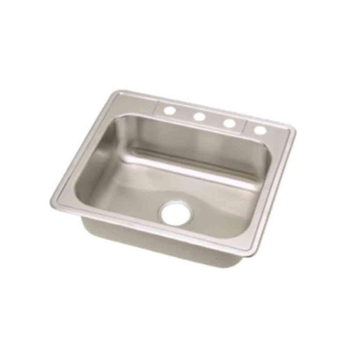 Elkay Dayton Top Mount Stainless Steel 25x22x8-1/6 4-Hole Single Bowl Kitchen Sink 290833
