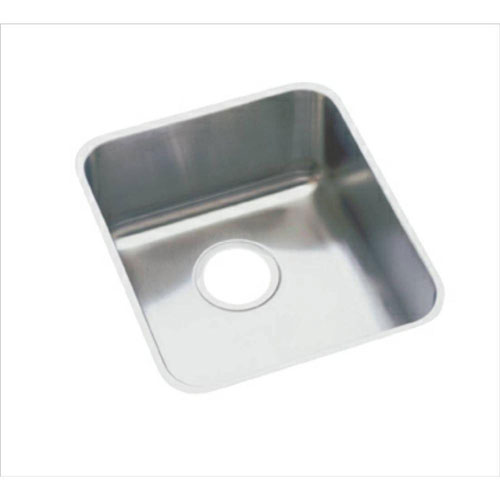 Elkay Lustertone Undermount Stainless Steel 16x18-1/2x7-7/8 inch 0-Hole Single Bowl Kitchen Sink 301289