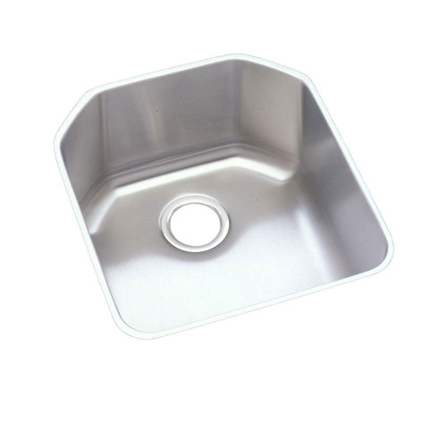 Elkay Lustertone Undermount Stainless Steel 18-1/2x20-1/2x9-1/2 inch 0-Hole Single Bowl Kitchen Sink 301309