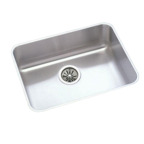 Elkay Lustertone Undermount Stainless Steel 23-1/2x18-1/4x7.5 0-Hole Single Bowl Kitchen Sink in Satin 301317