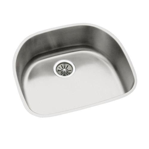 Elkay Lustertone Undermount Stainless Steel 23-9/16 x21-1/8x7.5 0-Hole Single Bowl Kitchen Sink 301325