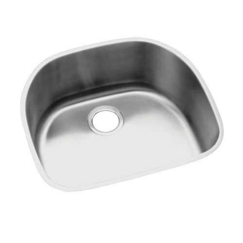 Elkay Lustertone Undermount Stainless Steel 23-9/16x21-1/8x10 inch 0-Hole Single Bowl Kitchen Sink 301329