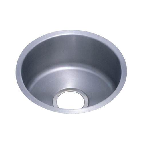Elkay Lustertone Undermount Stainless Steel 14-3/8x14-3/8x6 0-Hole Single Bowl Bar Sink 301357