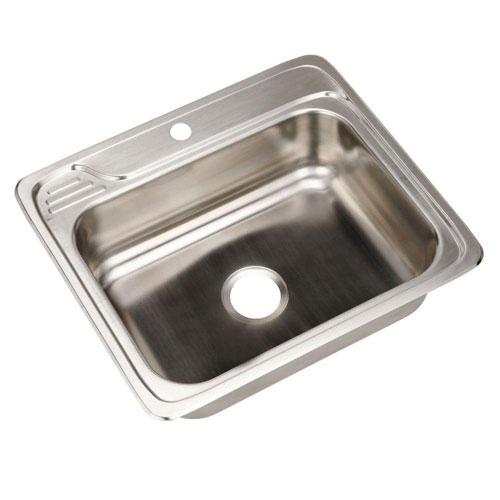 Elkay Celebrity Top Mount Stainless Steel 25x22x7.5 1-Hole Single Bowl Kitchen Sink 301833