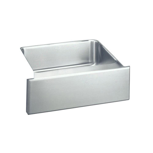 Elkay Lustertone Undermount Stainless Steel 25 inch 0-Hole Apron Front Single Bowl Kitchen Sink 402725