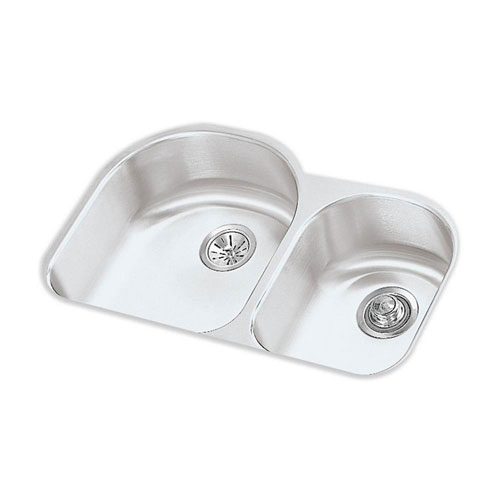 Elkay Lustertone Undermount Stainless Steel 31-3/4x20x7-1/2 0-Hole Double Bowl Kitchen Sink 40556