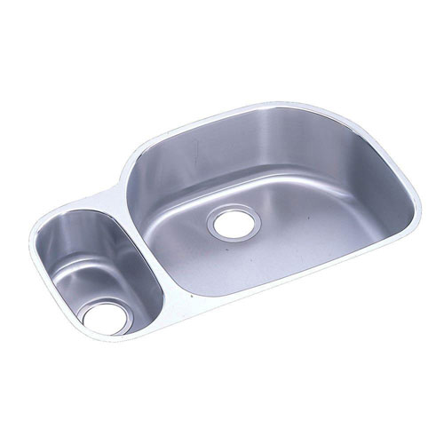 Elkay Lustertone Undermount Stainless Steel 31-9/16x21-1/8x10 inch 0-Hole Double Bowl Kitchen Sink 408157
