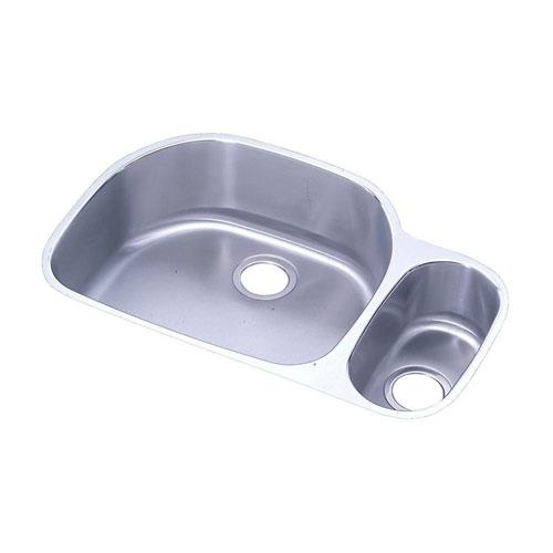 Elkay Lustertone Undermount Stainless Steel 31-9/16x21-1/8x10 0-Hole Double Bowl Kitchen Sink 408165