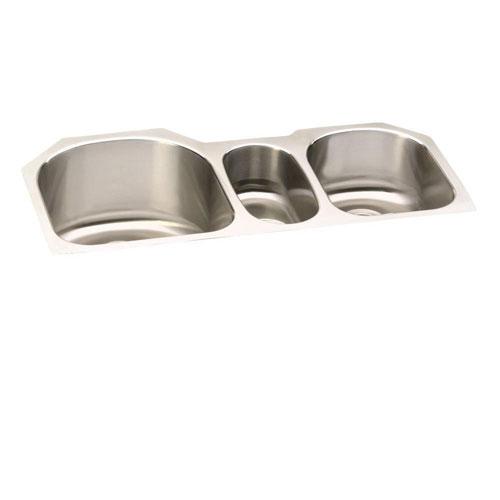 Elkay Lustertone Undermount Stainless Steel 39-1/2x20x10 inch 0-Hole Triple Bowl Kitchen Sink 438821