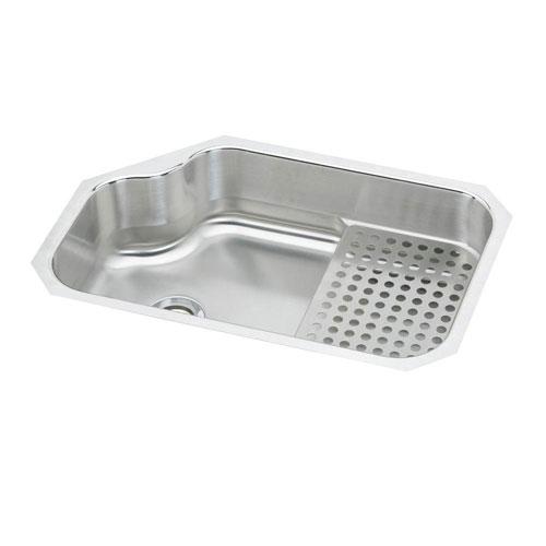 Elkay Mystic Undermount Stainless Steel 32x21x8 0-Hole Single Bowl Kitchen Sink in Satin 442093