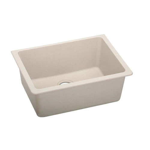 Elkay Gourmet Undermount Composite 18.5x25x18.5 0-Hole Single Bowl Kitchen Sink in Bisque 445137