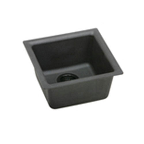Elkay Gourmet Universal Mount Granite 16.63x16.63x8 0-Hole Single Bowl Kitchen Sink in Mocha 467147