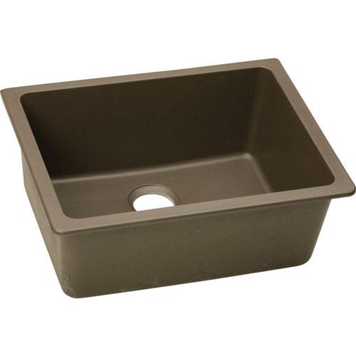 Elkay Gourmet Undermount E-Granite 25x18.5x9.5 0-Hole Single Bowl Kitchen Sink in Mocha 467152