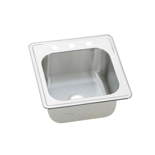 Elkay Elite Top Mount Stainless Steel 20x20x10.125 3-Hole Single Bowl Sink 484381