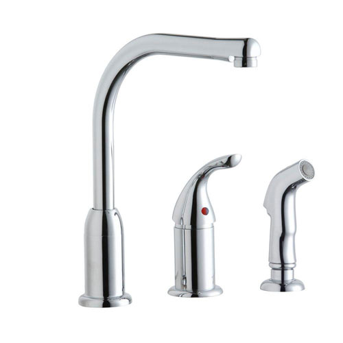 Elkay Brass Chrome Finish Single Lever Everyday Kitchen Faucet 541140
