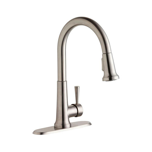 Elkay Everyday Stainless Steel Pull-Out Kitchen Faucet 541158