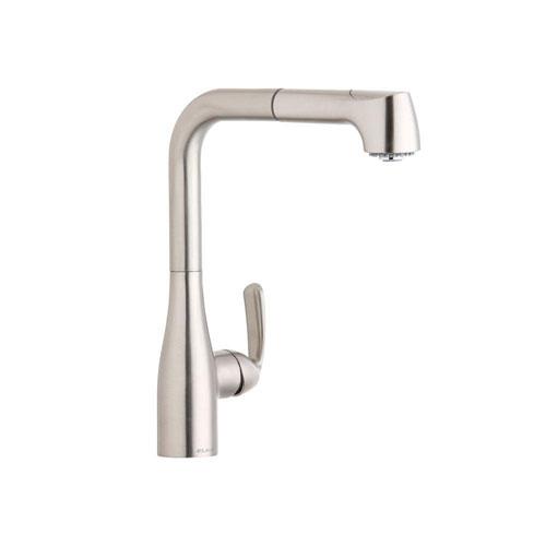 Elkay Brushed Nickel Gourmet Single Handle Pull Out Faucet 541175