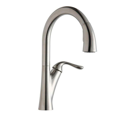 Elkay Harmony Single-Handle Kitchen Faucet in Lustrous Steel 541182
