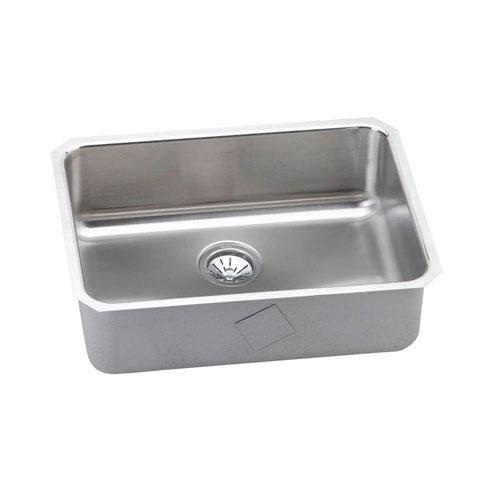 Elkay Gourmet Lustertone Stainless Steel 25x18.75x8 0-Hole Single Bowl Kitchen Sink in Satin 541269