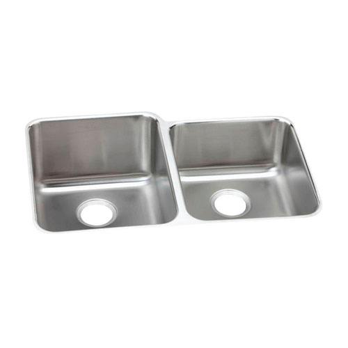 Elkay Gourmet Perfect Drain Undermount Stainless Steel 31-1/4 x20-1/2x9-7/8 0-Hole Double Bowl Kitchen Sink 541393