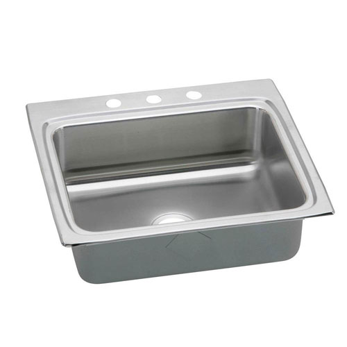 Elkay Gourmet Perfect Drain Top Mount Stainless Steel 21x15x8-1/8 1-Hole Single Bowl Kitchen Sink 541399