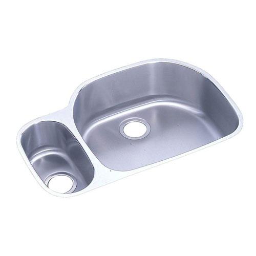 Elkay Lustertone Undermount Stainless Steel 31-9/16x21-1/8x7.5 0-Hole Double Bowl Kitchen Sink 61664