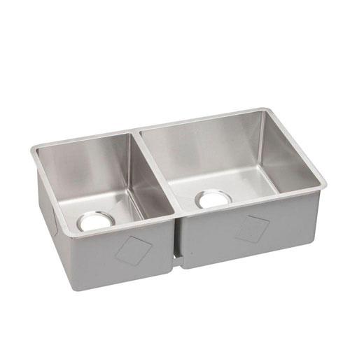Elkay Crosstown Undermount Stainless Steel 18.5x9x9 0-Hole Double Bowl Kitchen Sink 642419