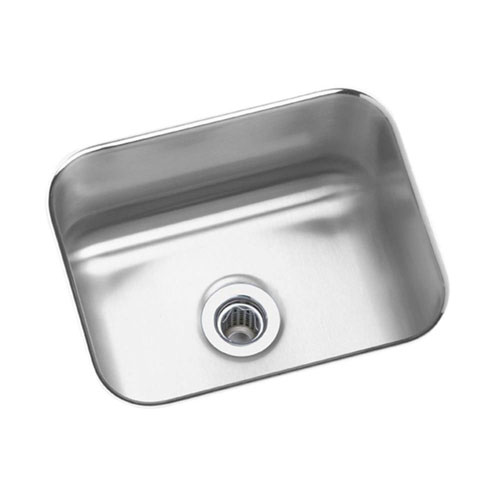 Elkay Lustertone Undermount Stainless Steel 14.5 inch x 11.75 inch x 7 inch 0-Hole Single Bowl Kitchen Sink 694449