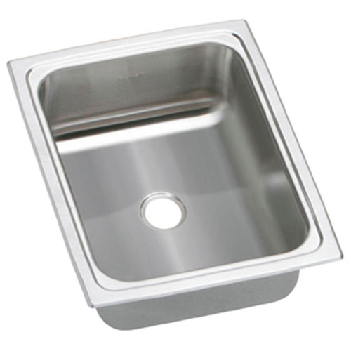 Elkay Pacemaker Top Mount Stainless Steel 12-1/2x15x6-1/8 0-Hole Single Bowl Kitchen Sink 731656