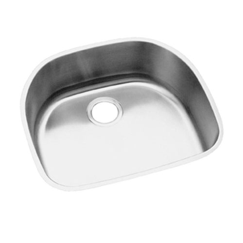 Elkay Elumina Undermount 23-9/16x21-1/8x8 0-Hole Stainless Steel Single-Bowl Kitchen Sink in Satin 781117