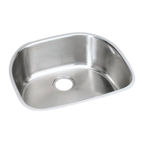 Elkay Harmony Undermount Stainless Steel 23.56X21.19X10 0-Hole Single Bowl Kitchen Sink in Satin 781133