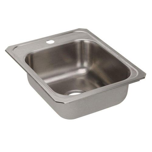 Elkay Celebrity Top-Mount Stainless Steel 17x21-1/4x6-7/8 1-Hole Single Bowl Kitchen Sink 846955