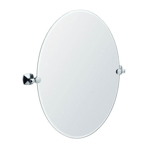 Gatco Jewel 21.75 inch Oval Mirror in Chrome 463582