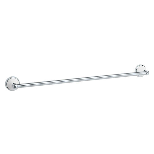 Gatco Franciscan 24 inch Towel Bar in Polished Chrome and Porcelain 73264
