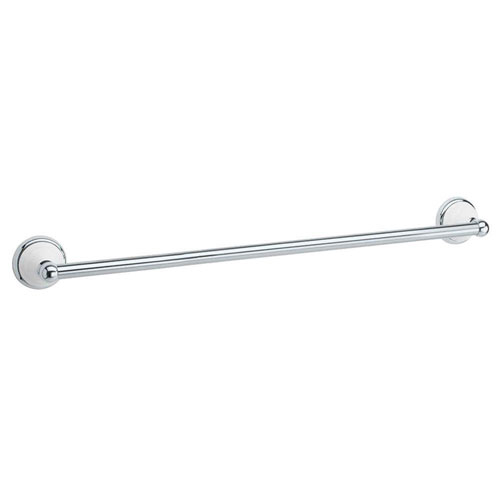 Gatco Franciscan 18 inch Towel Bar in Polished Chrome and Porcelain 73268