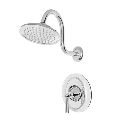 Price Pfister Saxton 1-Handle Shower Faucet Trim Kit in Polished Chrome (Valve Not Included) 460972